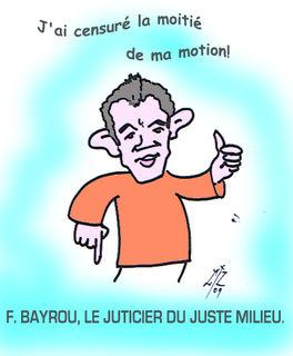 Bayrou justicier 27 01 09