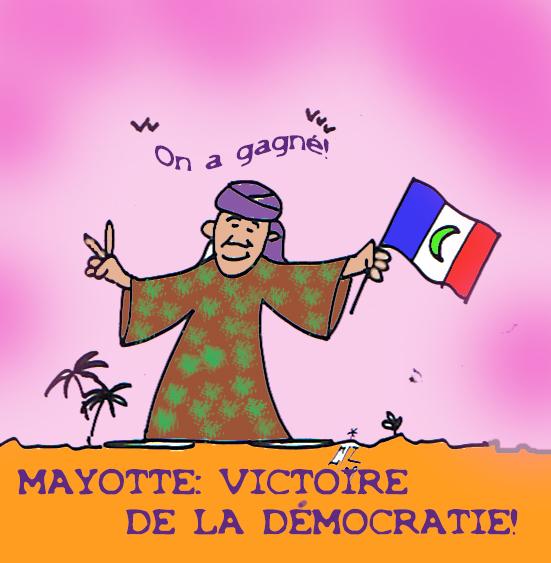 Mayotte Victoire de la Démocratie 30 03 09