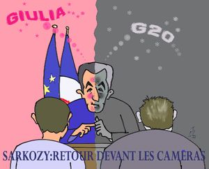 32 Intervention N;Sarkozy TV  29 10 11