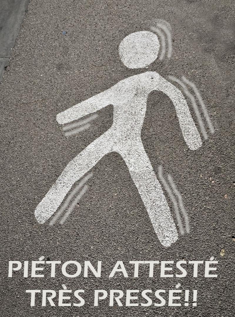 PIETON ATTESTE